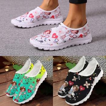 Zapatillas de deporte con estampado de enfermera y Doctor para mujer, Zapatos...