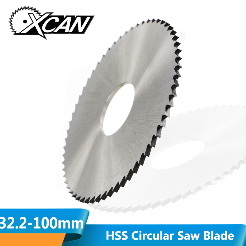 XCAN 1pc 32.2-100mm 60T 72T 120T HSS Circular Saw Blade Slitting Saw For Cutting Tubes,Pipes Metal Cutting Disc