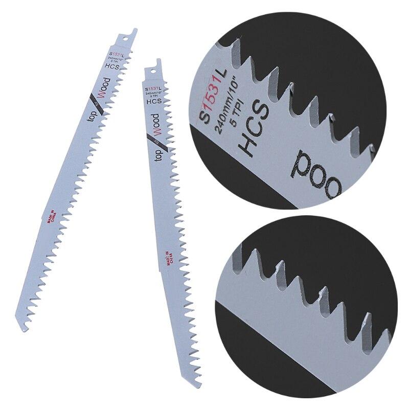 9.5 Reciprocating Saw Blades Pruning Blade 5TPI For Wood Tree Pruning 2Pcs/Set