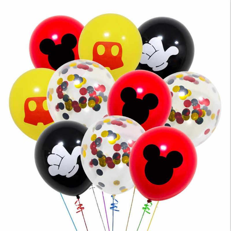 ميكي ميني موضوع الذكرى حفلة عيد ميلاد الديكور حمام الطفل الكرتون مي ماوس القديمة 20 قطعة بالون