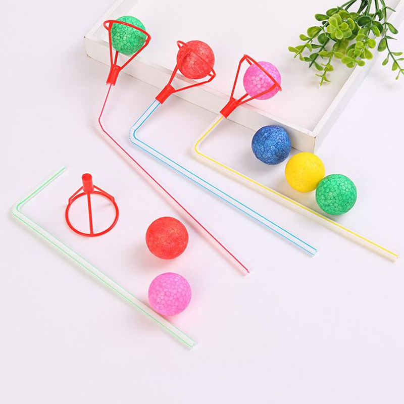 1set Tobacco Pipe Blowing Ball Nostalgia Suspended Ball Classic Childhood Toys Educational Toys For Girl And Boy Gift Christmas