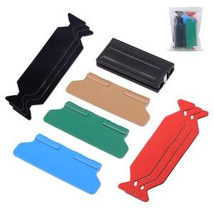 EHDIS Автомобильная виниловая пленка ручной магнитный скребок с 6 шт. скребок ткань автомобиля стикер обертка Окна Скребок авто аксессуары