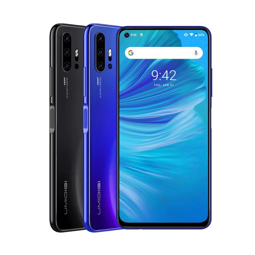 UMIDIGI F2 versión Global 6GB 128GB NFC Android 10 6,53 FHD 32MP Selfie Helio P70 48MP AI Quad Cámara teléfono móvil 5150mAh - 6