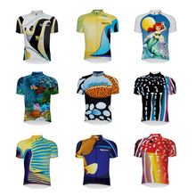 цена на 16 style retro cycling jerseys summer short sleeve bike wear red white pink black jersey road jersey cycling clothing sea fish