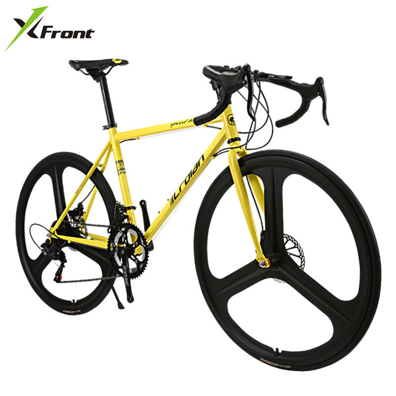 New Brand Road Bike Carbon Steel Frame 700CC Magnesium Alloy Wheel SHIMAN0 14 Speed Racing Bicycle Outdoor Sports Bicicleta