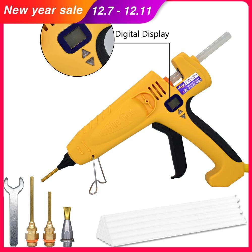 500W industrial high-power glue gun adjustable temperature digital display, bonding maintenance tools use 11mm glue sticks
