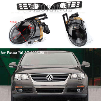 Fog Lights fog lamps For Volkswagen for passat b6 2006-2011 fog light cover frame led/ halogen headlight DRL foglights fog lamp фото