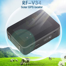 RF-V34 9000mAh solaire GPS Tracker puissance mouton vache CattleWaterproof GSM GPS WiFi suivi surveillance vocale Anti-suppression SOS alarme(China)