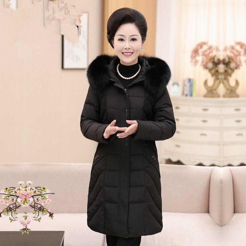 Duck Down Jacket Women Artificial Fur Long Coat Winter Jacket Women Korean Parka Plus Size 5xl 6xl Chaqueta Mujer MY1488