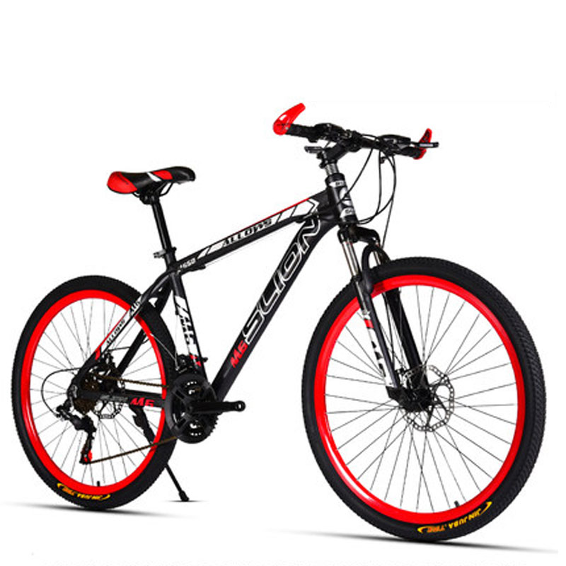 Bicycle Mountain Bike Variable Speed Shift Double Disc Brakes Aluminum Alloy Rim Students Men And Women