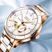 Lobinni Top Seagull Automatic Women Watch Luxury Brand Original Design Ladies Wrist Watch Stainless Steel Elegant женские часы