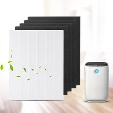 4 pieces Air Purifier Parts Carbon pre filters and 1 piece Main HEPA filter for Winix 115115 5300 5500 6300
