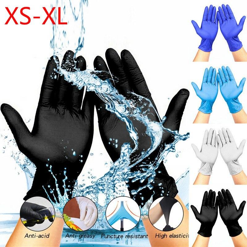 100pcs XS-XL Dishwashing Kitchen Work  Disposable Gloves Latex Garden Gloves Rubber Gloves Universal For Left Right Hand 2020