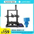 2020 Newest ANYCUBIC Mega Zero 2.0 3d Printer New Upgrade Magnetic Printing Bed Easy Leveling FDM 3d Printer Kit impresora 3d