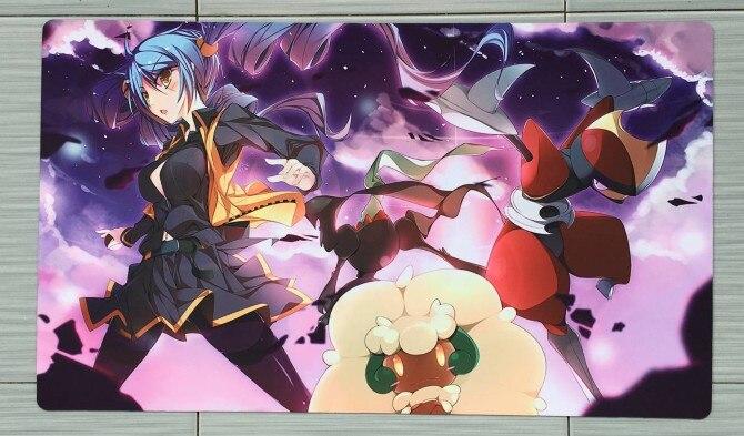 Takara Tomy PTCG Accessories Pokemon Card Game Table Playmat Girl Trainer Trainer Monster Toys For Children