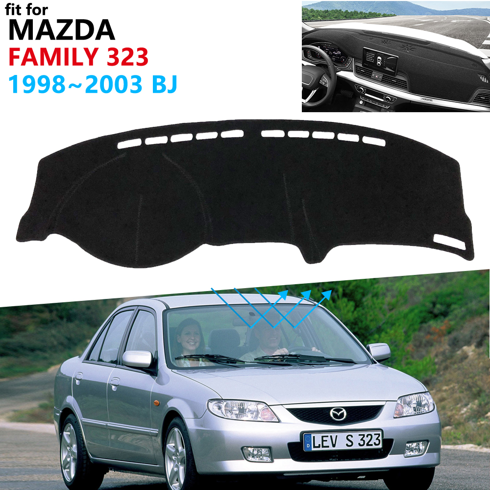 Dashboard Cover Protective Pad For Mazda Family 323 1998~2003 BJ Car Accessories For Ford Laser KN KQ Sunshade Dashmat 2000 2002