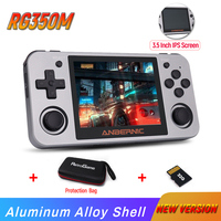 RG350M Retro Game Console RG350 Aluminum Alloy Shell video games console 3.5 inch IPS screen PS1 game player Linux System RG350