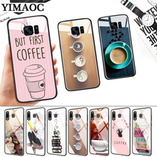 Ok But First Coffee Book Glass Case for Samsung S7 Edge S8 S9 S10 Plus S10E Note 8 9 10 A10 A30 A40 A50 A60 A70