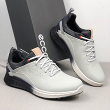 Golf-Shoes Walking-Sneakers Spikeless Genuine-Leather Men for Outdoor New-Brand