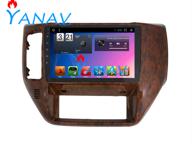 Android 10.0 Car Navigation GPS For-NISSAN PATROL Y61 2010-2019 Car Video Radio multimedia player system touch screen DVD player image