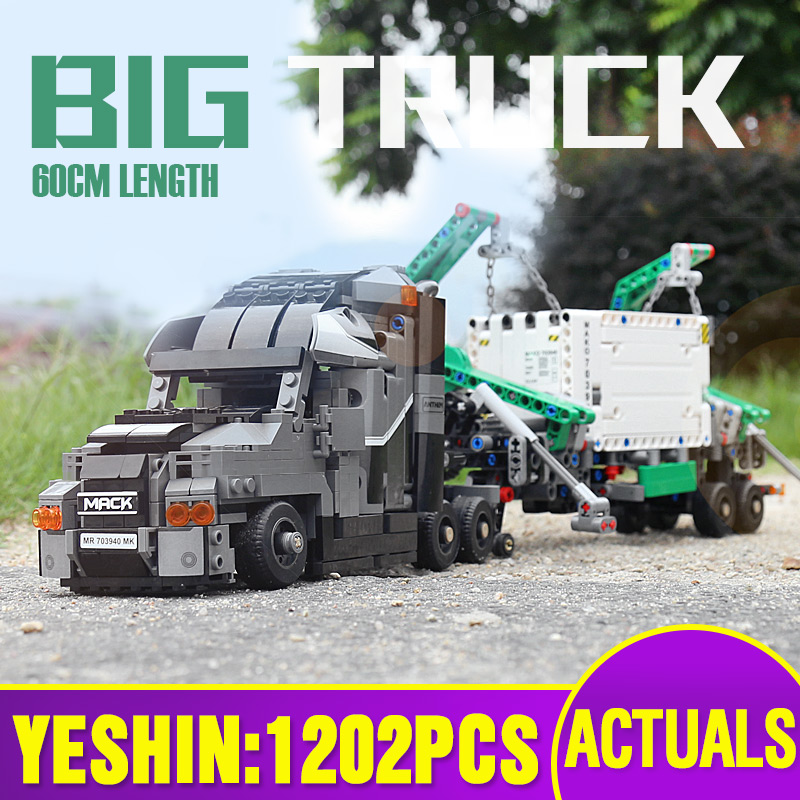 Yeshin Container Truck Vehicles Car Building Blocks Compatible with 42078 Technic Car DIY Bricks Educational Toys