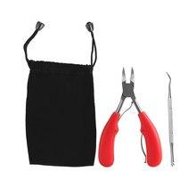 Cortauñas profesional de punta gruesa para hombre y mujer, alicates de acero inoxidable, herramientas de manicura de decoración de uñas, TSLM1