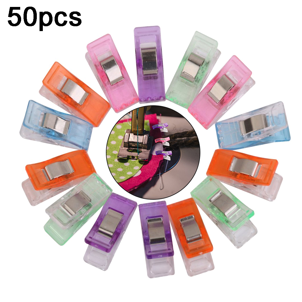 50PCS Plastic Sewing Clips Multipurpose Craft Accessories For Sewing Quilting Crocheting Crafting Knitting Pinzas Couture Tools