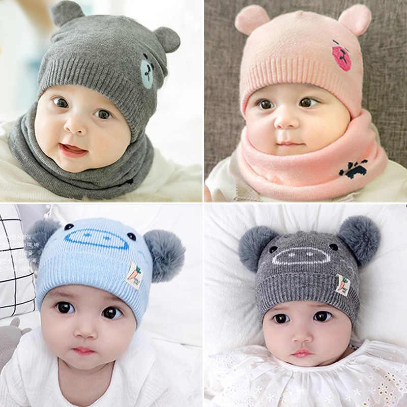 Girls Boys Autumn Winter Warm Cap Cartoon Dog Cute Toddler Beanie Hat