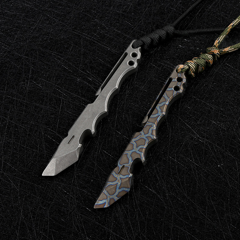 home improvement : DEHONG  German D2 steel outdoor tactics straight knife Pear flower wood sharp hunting knife Jungle camping knife Japanese knife