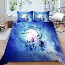 Gorąca sprzedaż zestaw pościeli dla dzieci Fantasy jednorożec kołdra pokrywa magia projekt pojedyncze podwójne pełne podwójne królowa łóżko King-size zestaw wszechświat tanie tanio Brak Zestawy poszew na kołdry CN (pochodzenie) Poliester Bawełna 1 0 m (3 3 stóp) 1 2 m (4 stóp) 1 35 m (4 5 stóp)