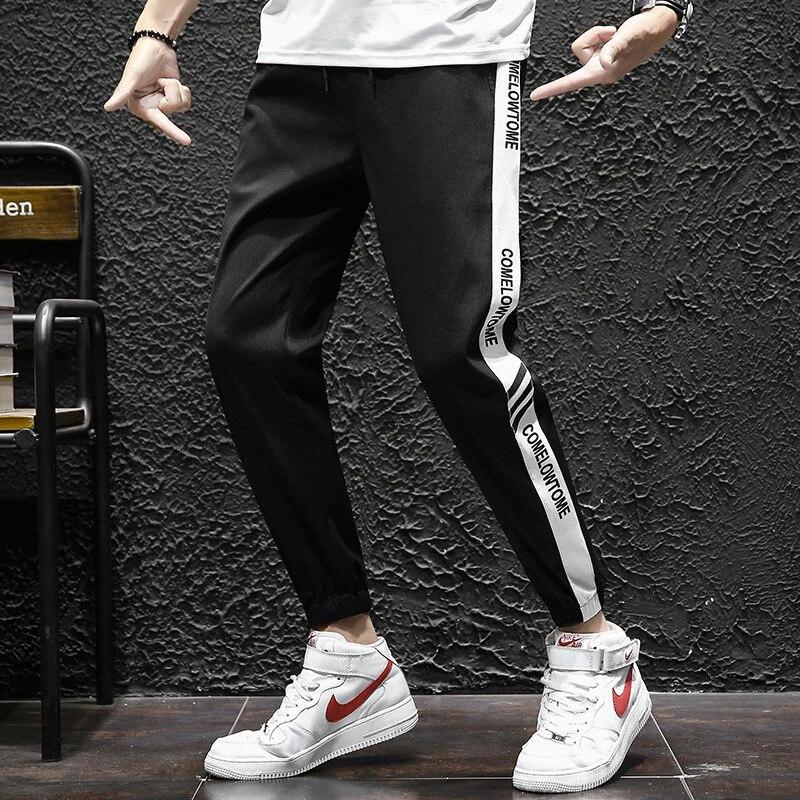 Summer Capri Pants Men's Casual Pants Korean-style Trend Loose-Fit Skinny Pants 2019 New Style Students Harem Pants Sub-