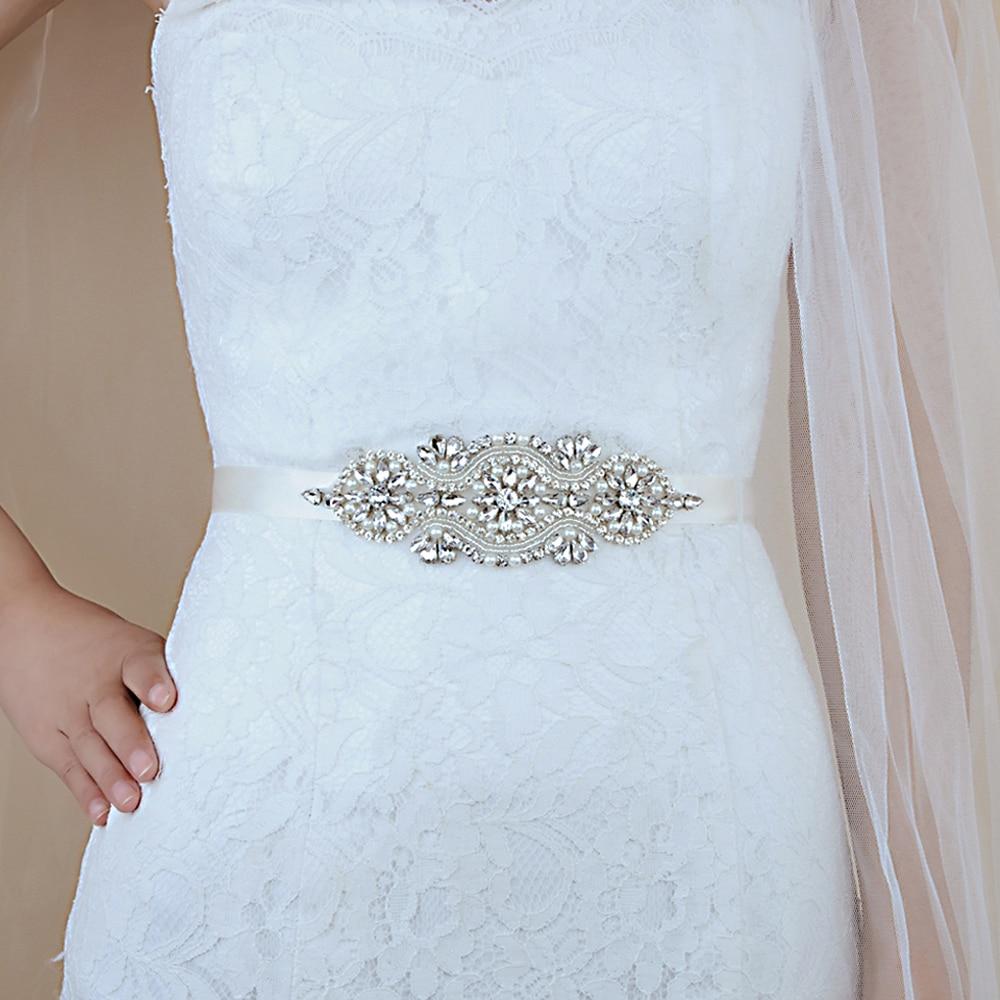 TRiXY S05 Crystal Wedding Belt Rhinestone Bride Bridesmaid Bridal Belt Sashes Wedding Accessories Evening Dress Belt Sashes