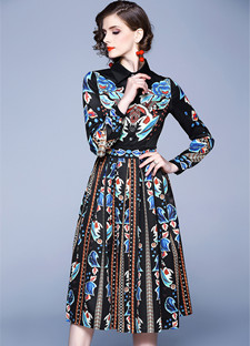 outono casual camisa vestido feminino arco do vintage vestidos robe femme