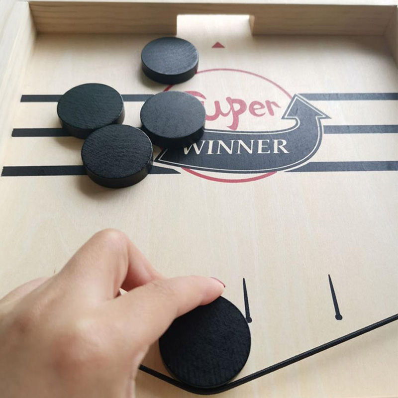 Fast Hockey Sling Puck Game Paced Sling Puck Winner Fun Toys Board-Game Party Table Games Montessori Toys For Adult Child Family