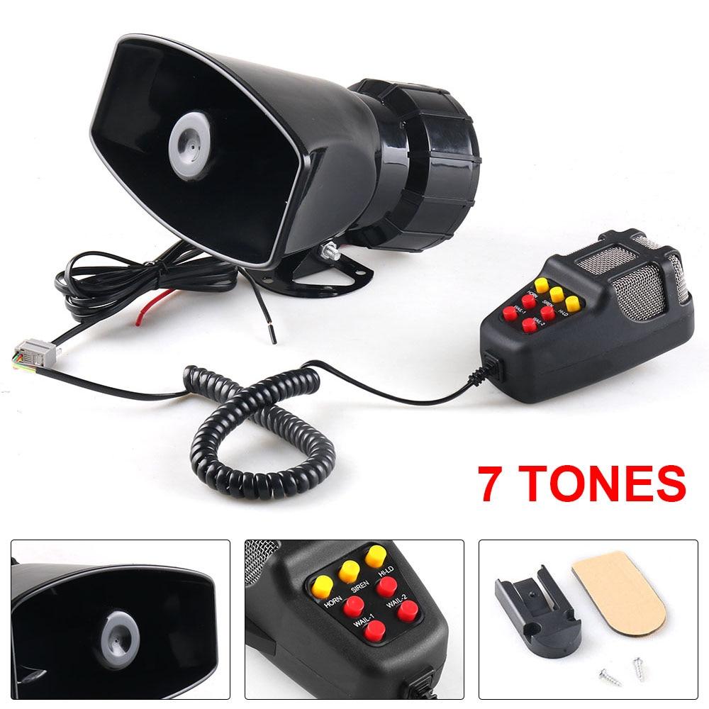 12 В 100 Вт 120-150 дБ 7 звуковая Автомобильная электронная Предупреждение сирена, мотоциклетная сигнализация, пожарный громкоговоритель скорой ...