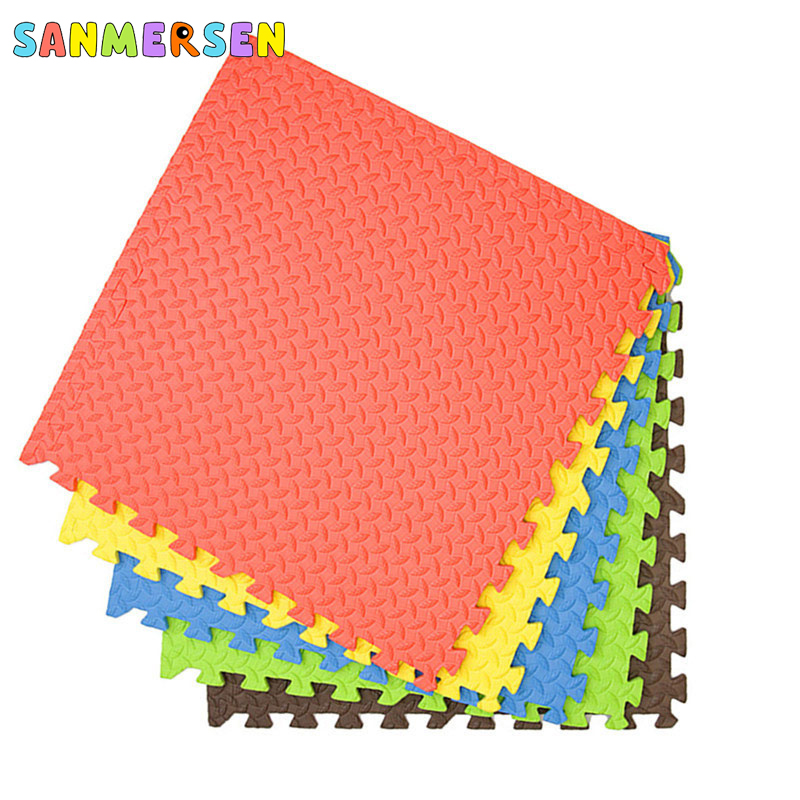 Large Size 1m*1m Baby Splicing Clawling Mat Floor Play Mats Environmental EVA Foam Thickened Soft Puzzle Pad For Baby Games Mat