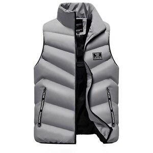 Image 4 - 2020 Waistcoat Gilet Homme Vest Mens Winter Sleeveless Jacket Men Down Vest Mens Warm Thick Hooded Coats Male Cotton Padded