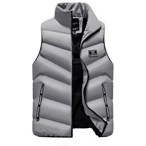 Image 4 - 2020 yelek jile Homme yelek Mens kış kolsuz ceket erkekler aşağı yelek erkek sıcak kalın kapşonlu palto erkek pamuk dolgulu