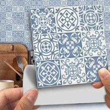 25 unids/pack pegatinas tradicionales de PVC para pared de mosaico Retro victoriano marroquí 10*10 cm/15*15 cm