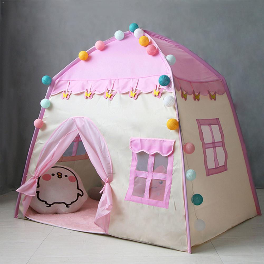 Enfants tente jouet tente pour enfant rose maison de jeu en plein air/intérieur jouets d'amusement château Villa pliable jouer tentes jouets pour enfants