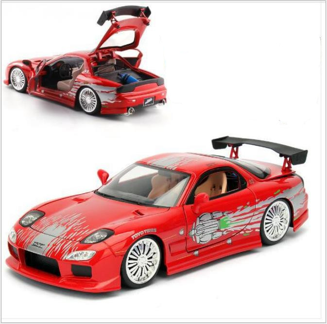 1:24 Mazda RX7 Alloy Car Model,high Simulation Rally Racing Sports Car Toy,sliding Function Car Model,free Shipping