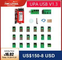 OBD2 UPA אבחון כלי ECU מתכנת UPA USB V1.3 עם מלא מתאם ENC חזק פונקציה עבור תכנית קוד קורא סורק