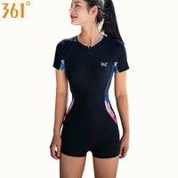 361 Women Rash Guard Swimsuit Athletic Chlorine Resistant One Piece Swim Wear Surfing Sports Girls Swimsuit Female Swimming Suit