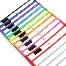 20 Pz/set Giocattoli Di Puzzle Pennello Asciutto Borsa Può Essere Riutilizzato IN PVC Trasparente di Disegno Giocattolo X5XE