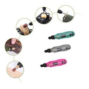 Image 5 - ミニコードレスドリル電動工具電動3.6vドリルグラインダー研削アクセサリーセットワイヤレス彫刻ペンためホームdiy