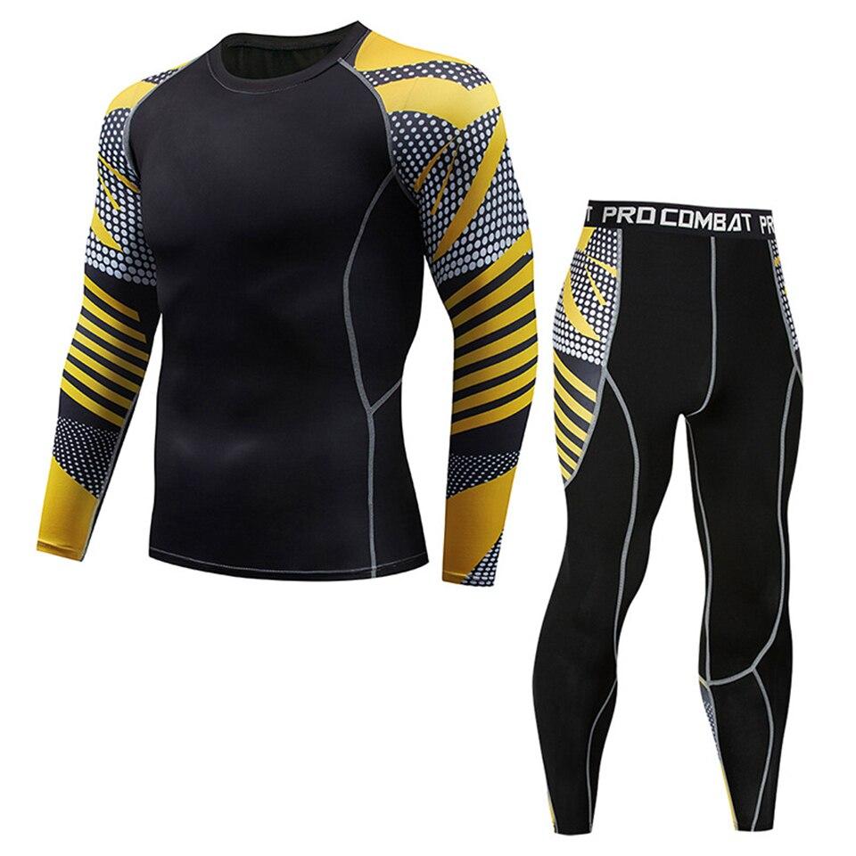 Mma Compression Sets Rashguard T Shirt+Pants Rash Guard Fitness Tracksuit Muay Thai Bjj Boxing Jerseys MMA Clothing Sport Suit