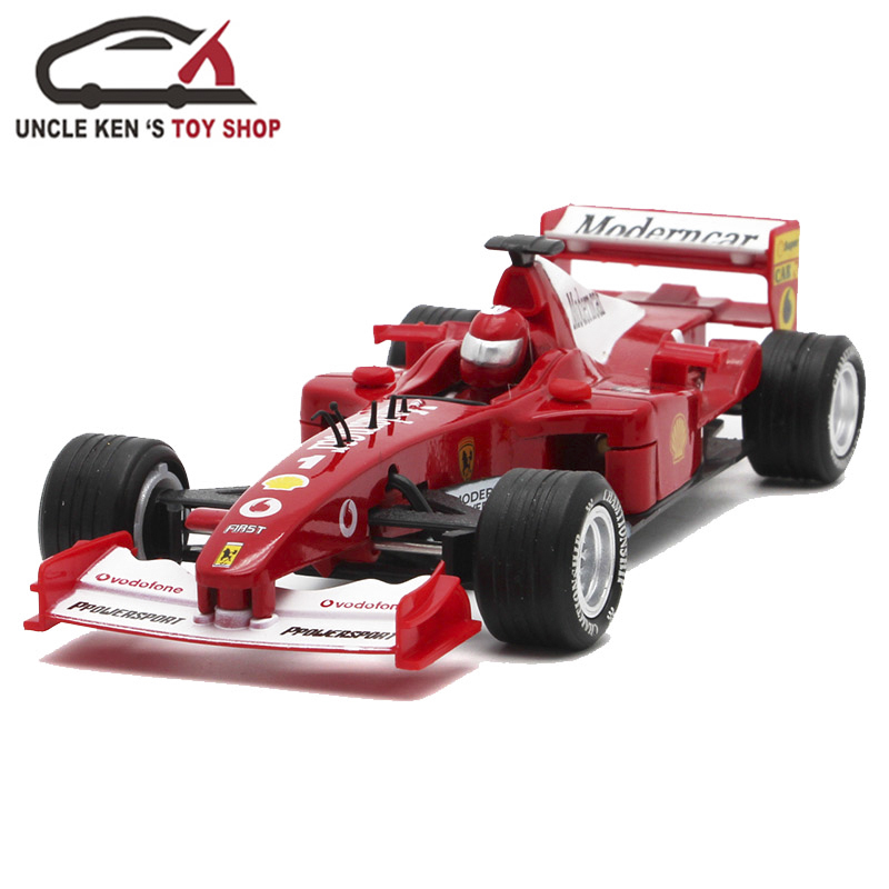 Diecast Formula Model Cars, 17cm FI Metal Souvenir Toys, Kids Alloy Gift With Package/Pull Back Function/Sound/Light