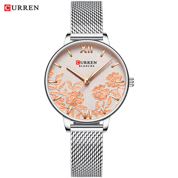 CURREN Women Watches Top Brand Luxury Stainless Steel Strap Wristwatch for Women Rose Clock Stylish Quartz Ladies Watch 14