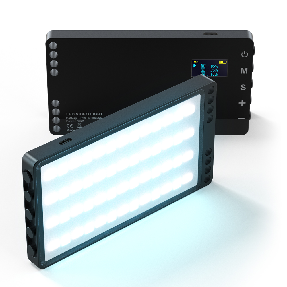 Цветная (RGB) видео светильник переносная перезаряжаемая светодиодный Панель заполнить подсветка для фотосъемки с лампами светильник ing лам...