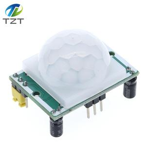 Image 3 - 100 pçs/lote HC SR501 ajustar ir piroelétrico infravermelho pir sensor de movimento detector módulo para arduino para raspberry pi kits